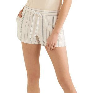 SEE BY CHLOÉ  Striped cotton-blend canvas shorts
